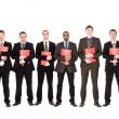 Group of with documents — Stock Photo