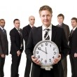 Business Manager with a clock — Stock Photo #3016944