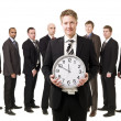 Business Manager with a clock — Foto de Stock