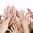 Stock Photo: Hands up