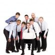 Businessmen in front of a laptop — Stock Photo