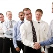 Businessmen shaking hands — Stock Photo #3183039