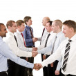 Businessmen shaking hands — Stock Photo #3183045