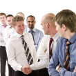 Stock Photo: Businessmen shaking hands