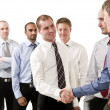 Businessmen shaking hands — Stock Photo #3183087