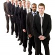 Stock Photo: Businessmen on line