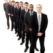 Businessmen on a line — Stock Photo #3183177