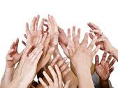 Mãos ao alto — Fotografia Stock