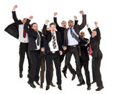 Happy businessmen — Stock Photo
