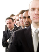 Businessmen on a line — Stock Photo