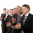 Business men clapping hands — Stock Photo