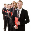 Business men with documents — Stock Photo