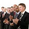Stock Photo: Business men clapping hands