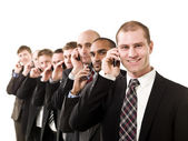 Business men on the phone — Stock Photo