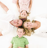 Family from above — Stock Photo
