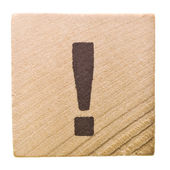 Block with exclamation mark — Stock Photo