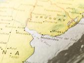 Map of Montevideo — Stock Photo