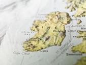 Mapa Limerick — Zdjęcie stockowe