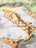 Neaples 的地图 — 图库照片