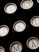 タイプライターのキー — ストック写真