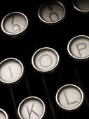 老式打字机键 — 图库照片