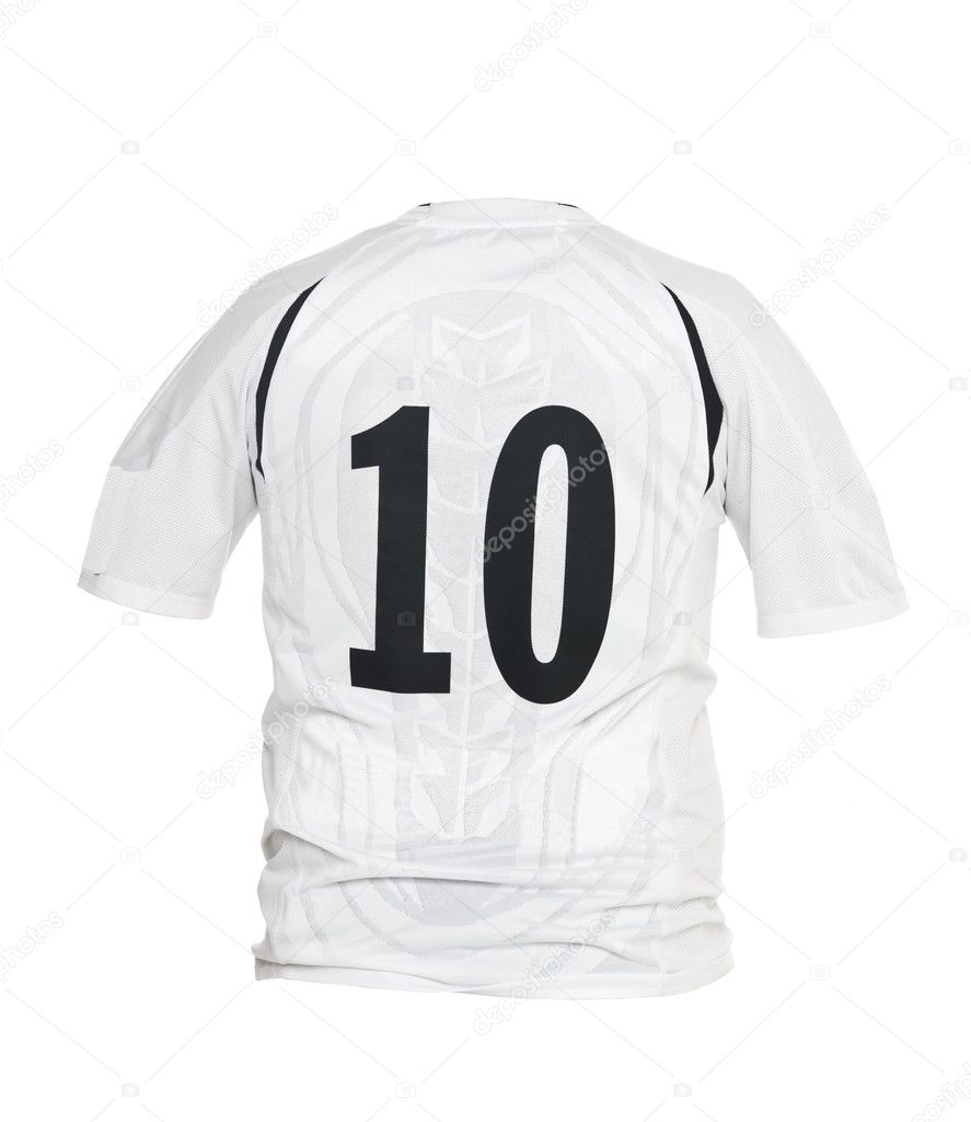 Football shirt with number 10 isolated on white background  Stock Photo #3846714