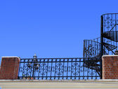 Wrought iron stairs and baluster — Stock Photo
