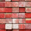 Red painted lumber — Stock Photo