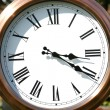 Outdoor copper clock face — Stock Photo