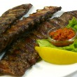 Foto Stock: Grilled pork ribs
