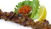 Lamb meat skewer — Stock Photo
