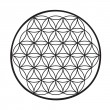 Stok Vektör: Flower of life vector