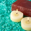Royalty-Free Stock Photo: Sea-salt, candles and soap