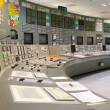 Control room - nuclear power plant - Stock Photo