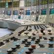 Control room - nuclear power plant — 图库照片
