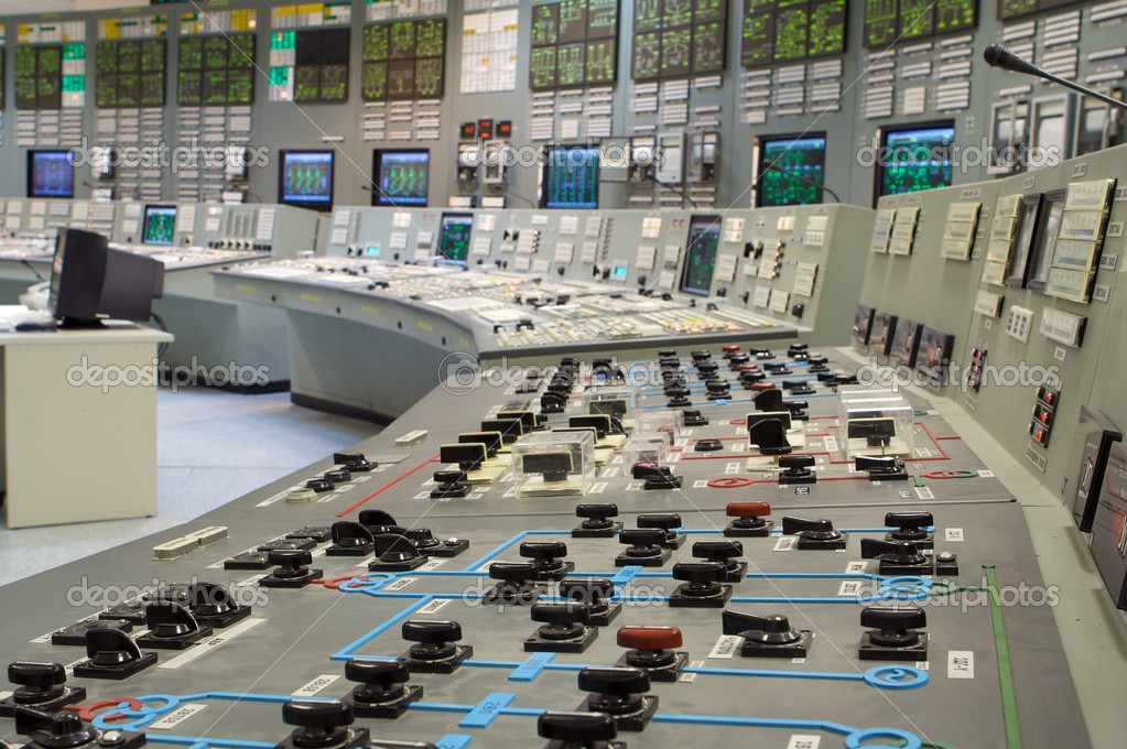 Control room of a russian nuclear power generation plant  Stock Photo #2879255