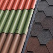 Stock Photo: Various roof tiles