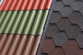 Various roof tiles — Stock Photo
