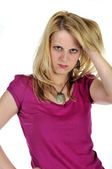 Young blond girl — Stock Photo