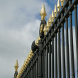 Wrought-iron fence in the Petersburg, Russia. - Stock Photo