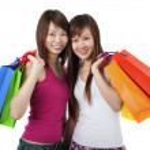 Happy Shoppers — Stock Photo