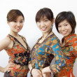 Three Asian girls — Stockfoto