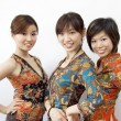 Stock Photo: Three Asian girls