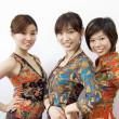 drei asiatische Mädchen — Stockfoto