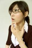 Panic office lady — Stock Photo