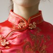chinese cheongsam costume — Stock Photo