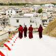 Stock Photo: Few monks walking