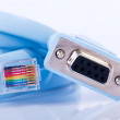 Console cable rj45 — Stock Photo