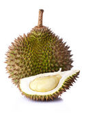 King of fruits, durian on white background — Stock Photo