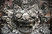 Balinese stone sculpture — Stock Photo